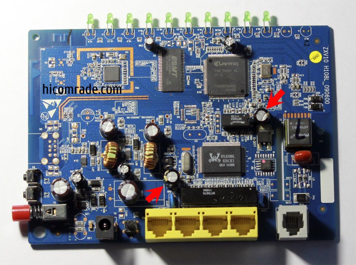 ремонт ZXV10H108L замена конденсаторов